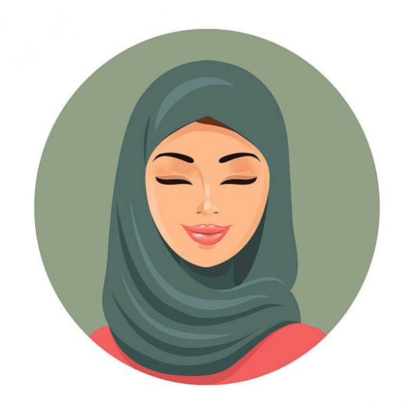 clipart of woman with a hijab