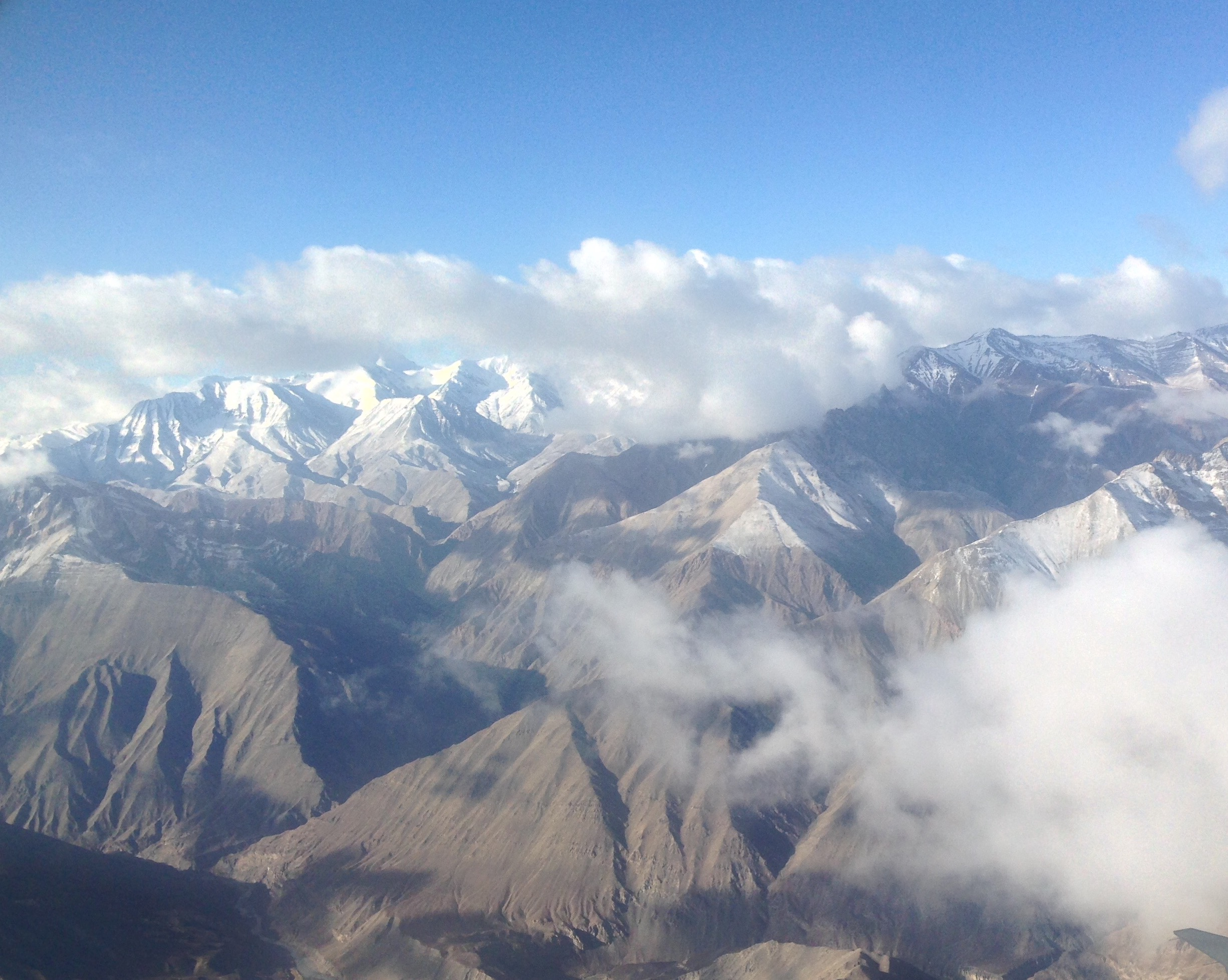 Image as we flew above the mighty peaks