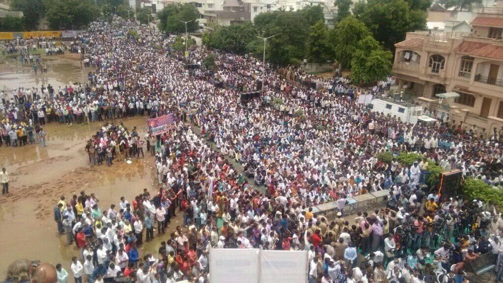 Huge Dalit protests all over Gujarat