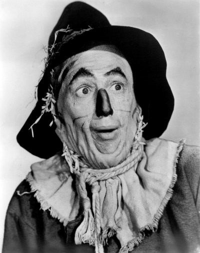 Ray Bolger as the Scarecrow. Wikimedia Commons.