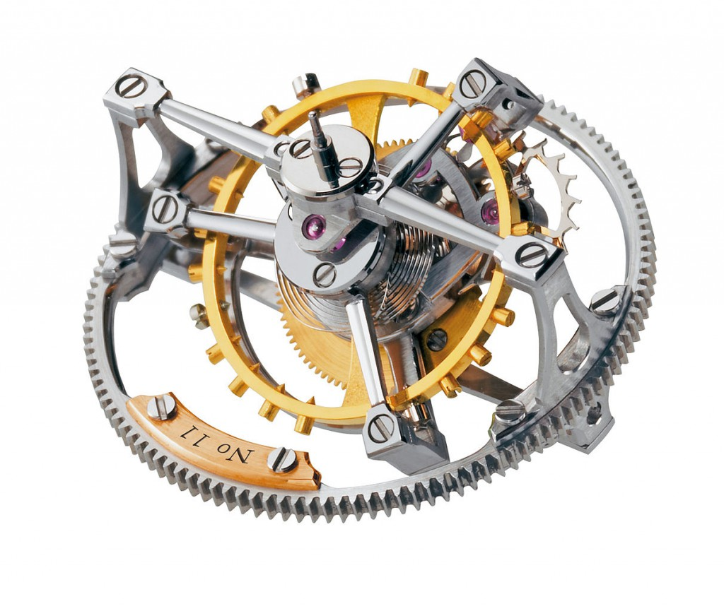 Double Tourbillon 30° mechanism by Greubel Forsey. Creative Commons image from Wikimedia.