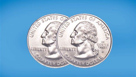 Two-headed quarter