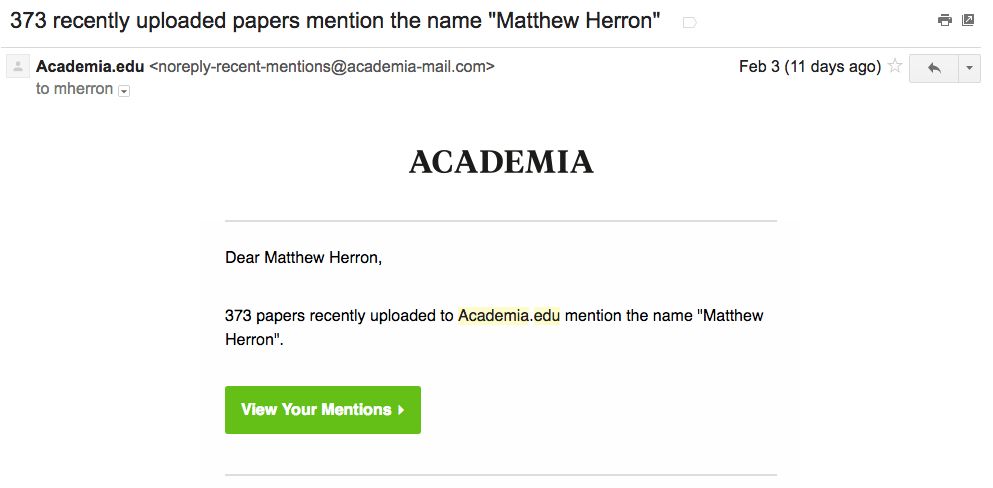 Academia email