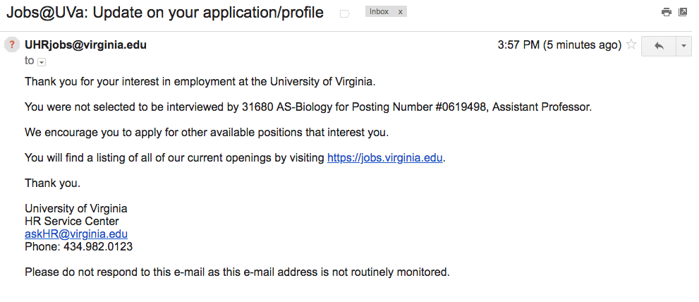 UVA rejection