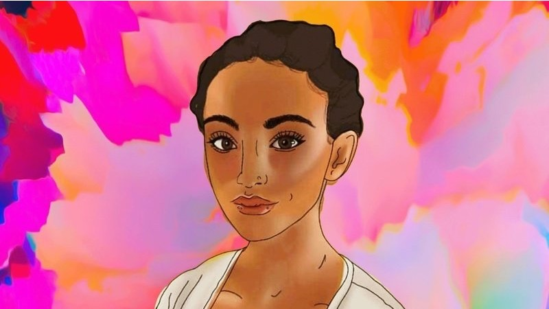 painting of a teenage biracial girl (uncredited).
