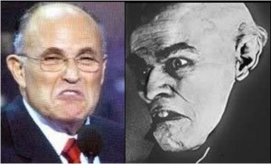 side by side images of Giuliani and Nosferatu (from the film of the same name)