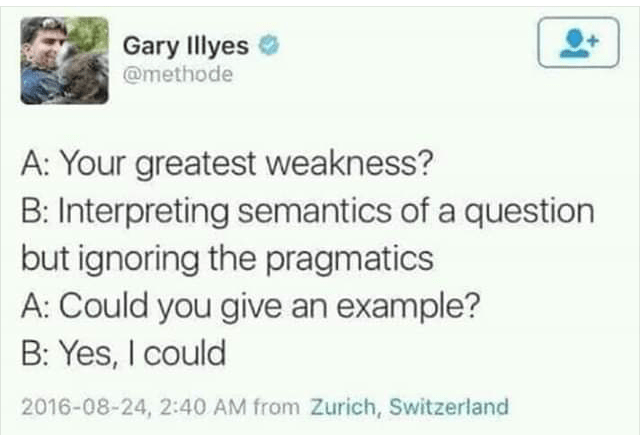 """Interviewer: What is your greatest weakness?"""" leads to hilarity"""