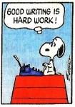 snoopy-good-writing-is-hard-work