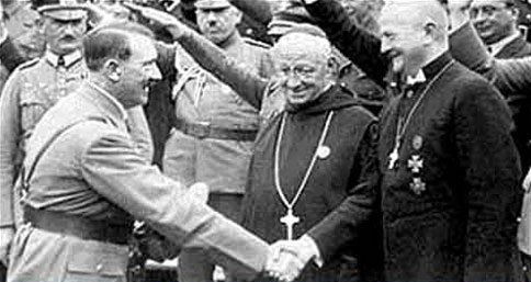 """""""The National Government will regard it as its first and foremost duty to revive in the nation the spirit of unity and cooperation. It will preserve and defend the basic principles on which our nation has been built. It regards Christianity as the foundation of our national morality, and the family as the basis of national life"""" - Adolf Hitler, Feb. 1st, 1933."""