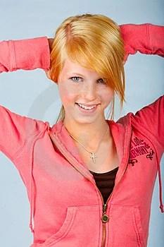 Stock Photos - Young teenage girl in studio.