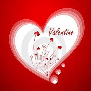 Free Stock Image - Valentine`s greeting card