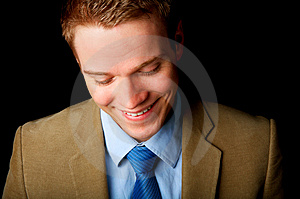 Free Stock Image - Young Laughing Businessman