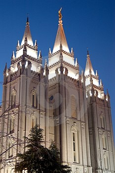 Stock Images - temple square with blue sky