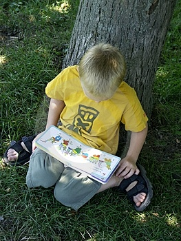 Free Stock Photography: Reading Boy Picture. Image: 217977