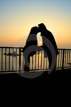 Stock Images - sunset kiss