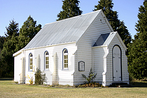 Stock Photo - Church in New Zealand