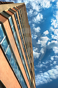 Stock Photos - Apartments building and cloudy
