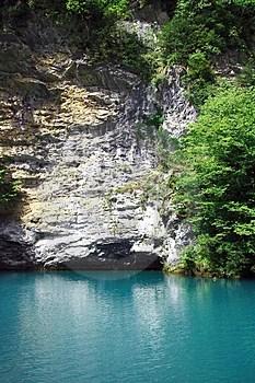 Abkhazian Blue Lake Stock Images