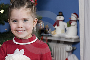 Stock Images - Cute girl at Christmas time