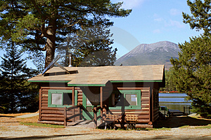 Stock Photos - Cabin on Mountain Lake