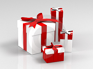 Stock Image - Christmas boxes