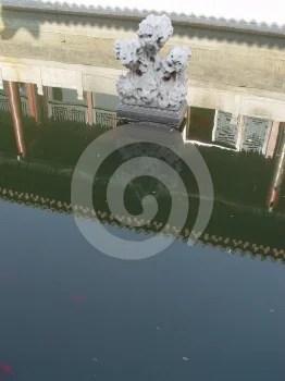 Stock Photos - Beijing China - Statue & reflection Beihai park