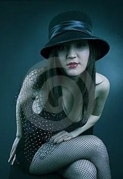 Stock Image - Flirty young woman