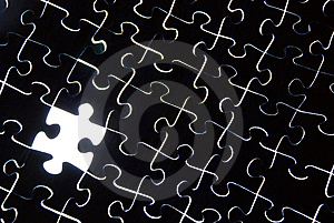Stock Image - Puzzle background with one missing piece