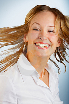 Stock Images - Young dancing girl having fun