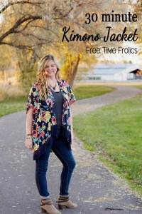 30 minute Kimono Jacket DIY