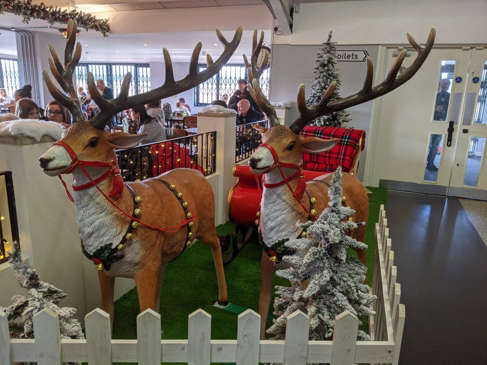 The sleigh at Children's play village | Free Time with the Kids