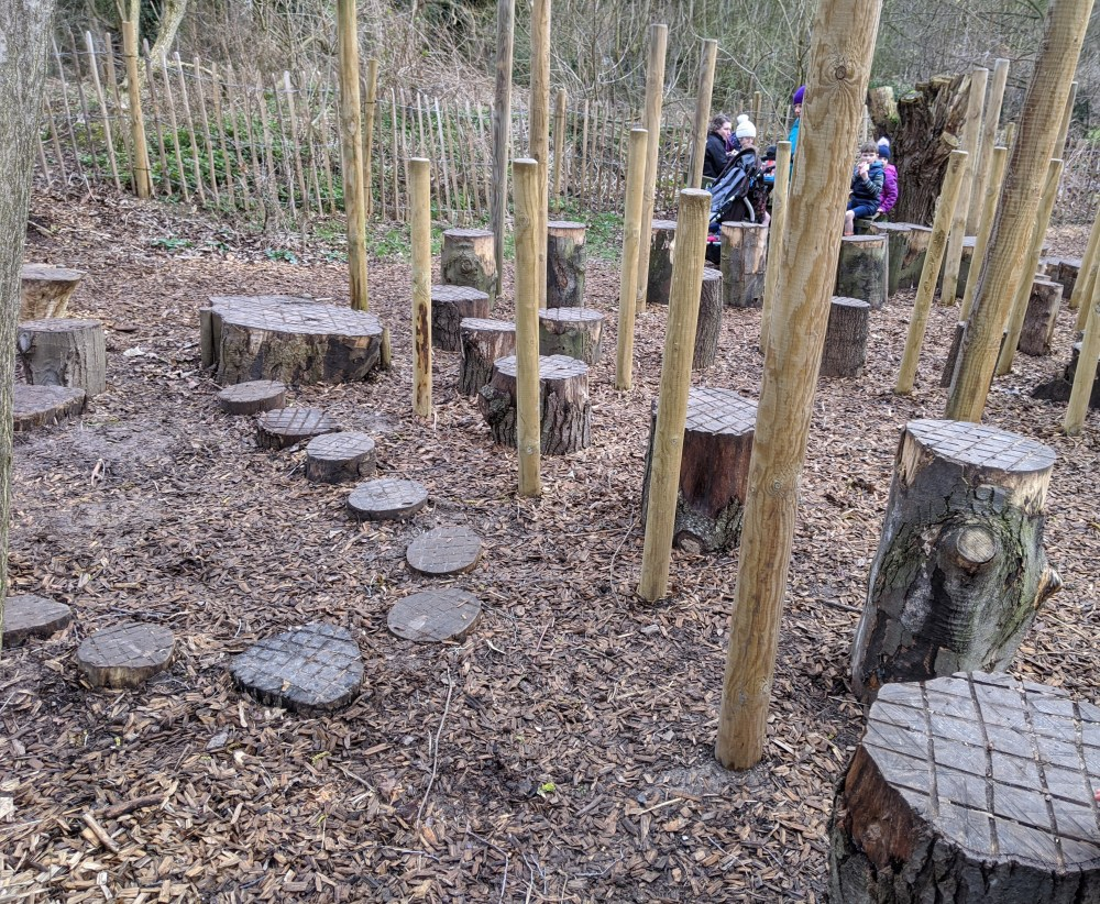 Woodland Play Area | Anglesey Abbey, Gardens and Lode Mill Review | Cambridgeshire | Review by Free Time with the Kids
