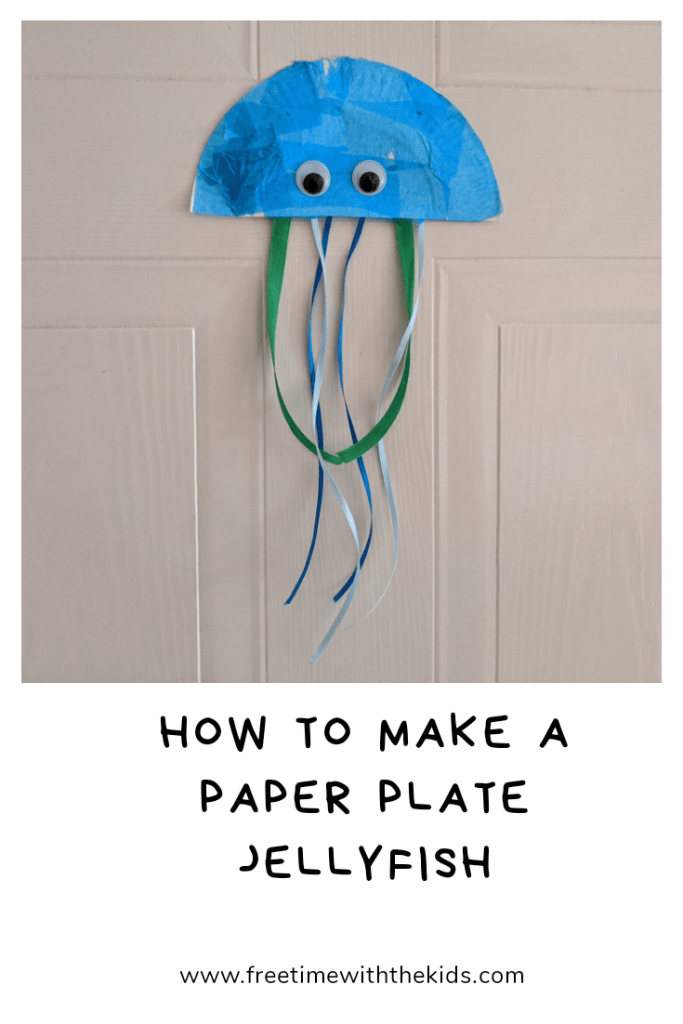 Paper plate jellyfish craft ideas | Cheap toddler craft ideas | Free Time with the Kids