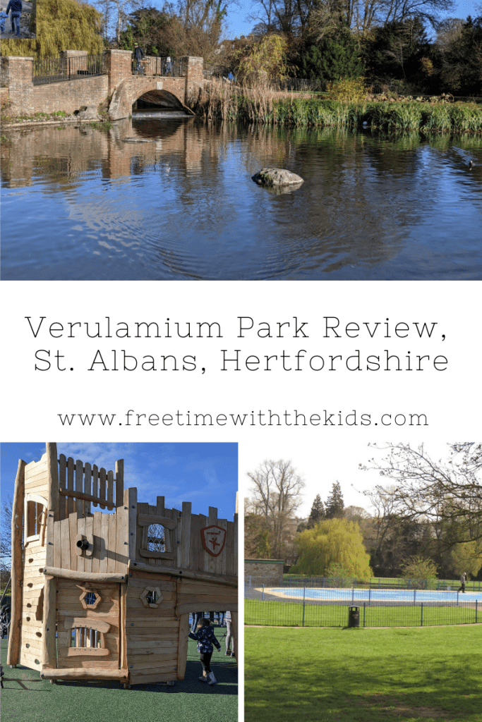 Verulamium Park Review, Hertfordshire | Playground, Splash Park, Lakeside family walk | Free Time with the Kids