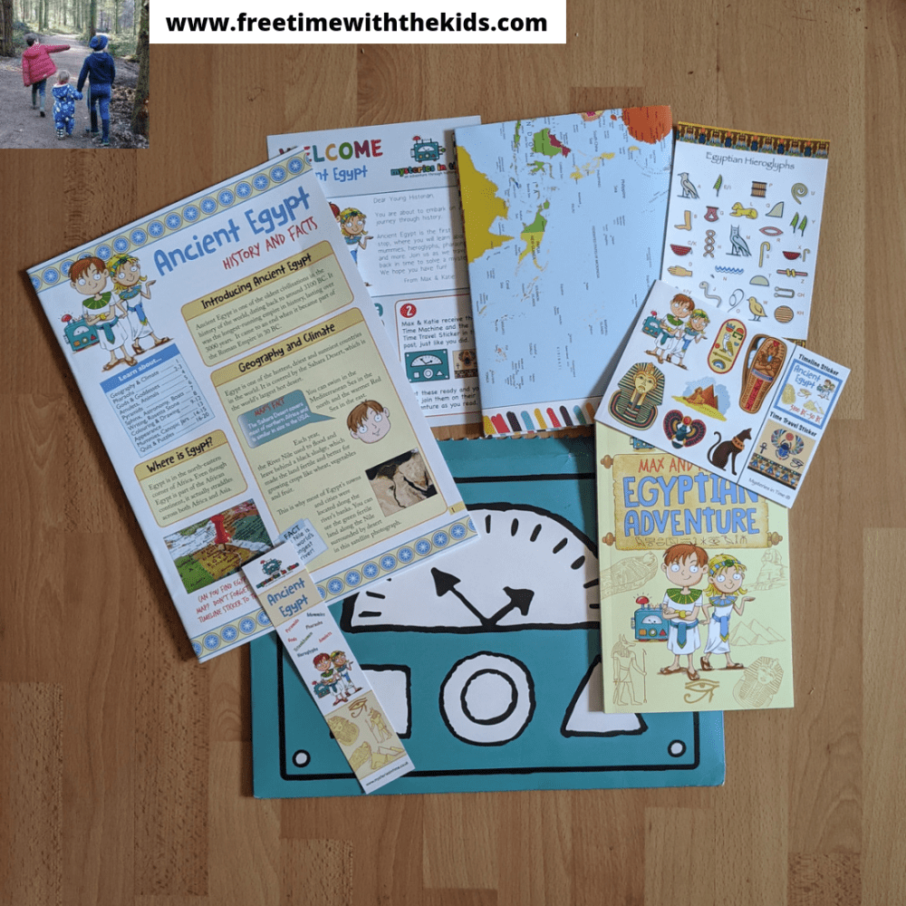 Mysteries in Time subscription box review | History, education book series for kids | Review by Free Time with the Kids