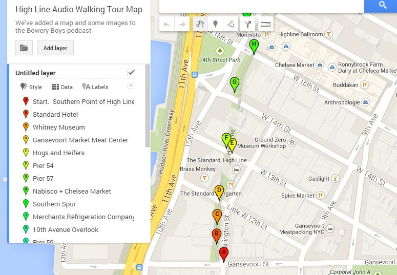 Tourist Map New York City Walking