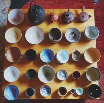Handcrafted japanese chinese tea cups