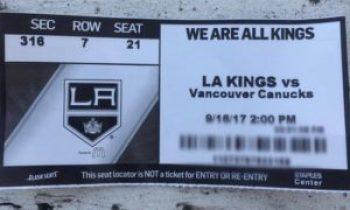 LA Kings Ticket