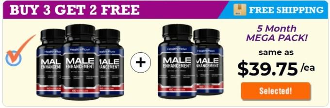 Health Flow Male Enhancement 5 Bottle