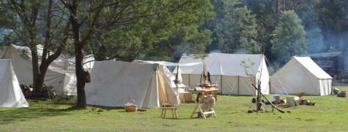 Camp scene by John Sultana