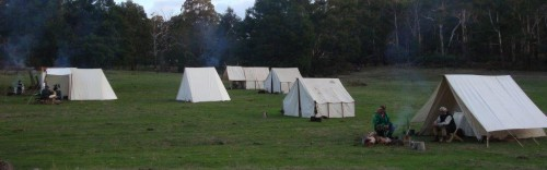 Part of the Easter encampment