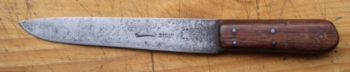T. Williams, Smithfield, London pipe brand butcher's knife.