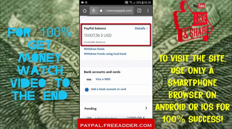 How To Get FREE Money On Paypal | Easiest Way! | 100% Working