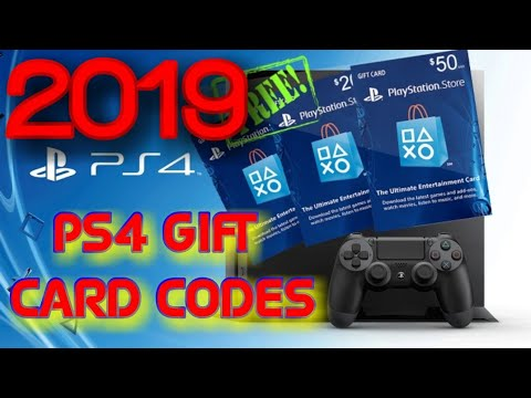 PS4 GIFT CARD CODES 2019, TOW TO GET FREE MONEY ON PSN 2019