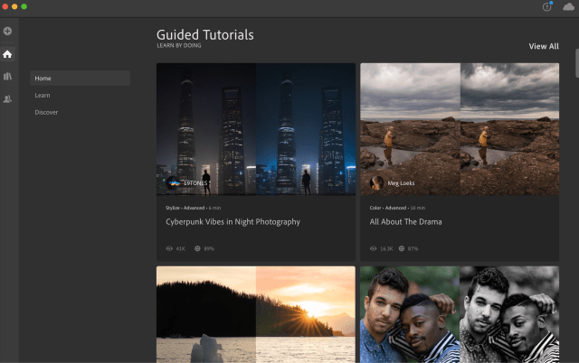 Adobe Lightroom Free Trial Tutorials Page