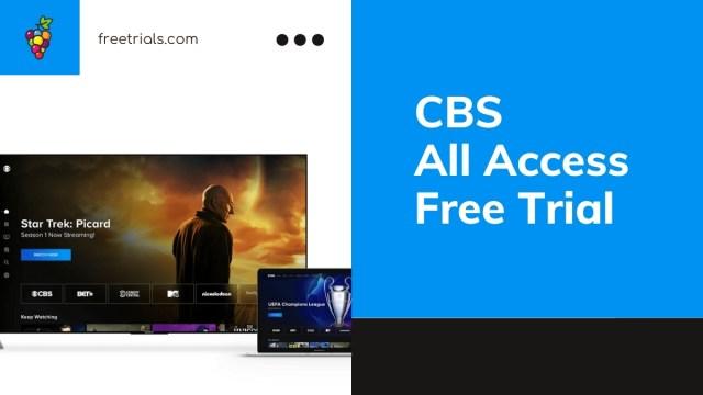 CBS All Access Free Trial Header