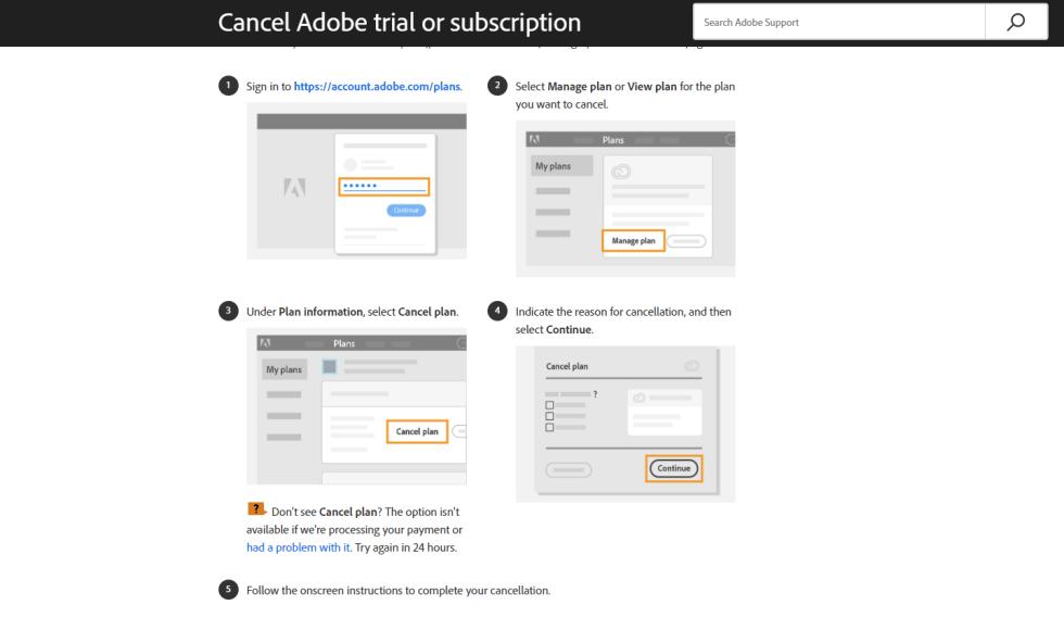 How to Cancel Adobe InCopy Free Trial