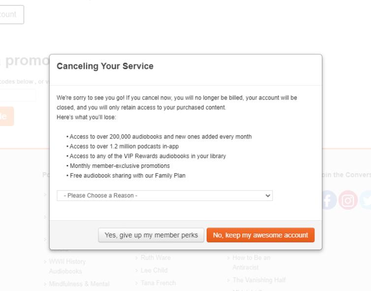 Before You Cancel Survey for Audiobooks.com