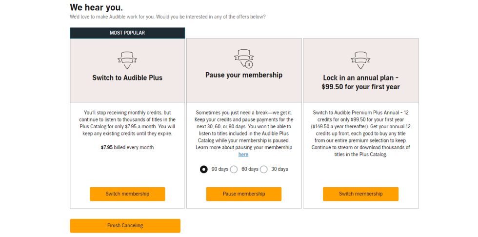 How to Cancel Audible Free Trial Step 3