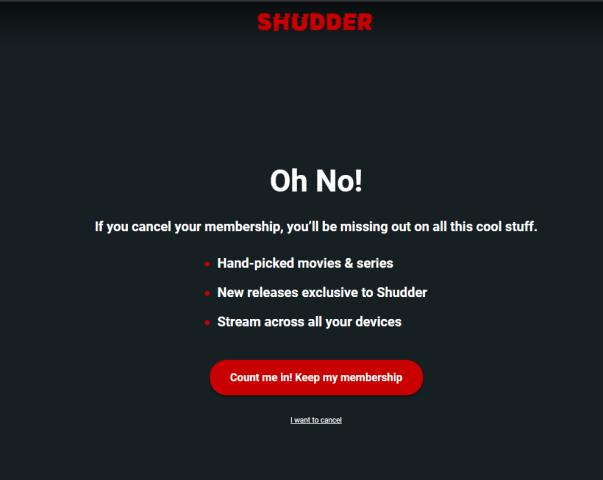 Cancel Shudder Free Trial